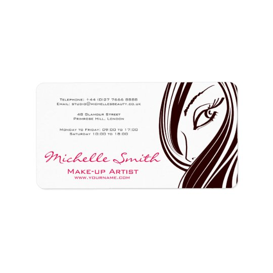 Hair and beauty Lash Extension company branding Label