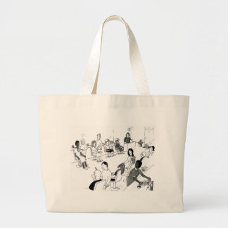 Hair and Beauty Stylist Customers Large Tote Bag
