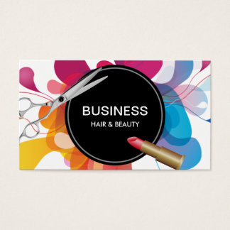Hair & Beauty Salon Modern Color Flow Business Card