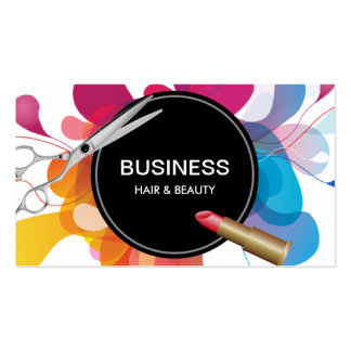 Hair & Beauty Salon Modern Color Flow Pack Of Standard Business Cards