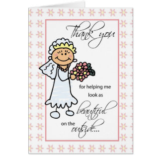 Hair Dresser and Makeup Artist Wedding Thank You Card