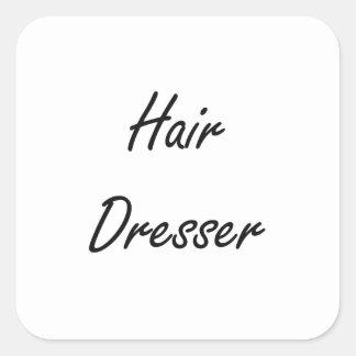 Hair Dresser Artistic Job Design Square Sticker