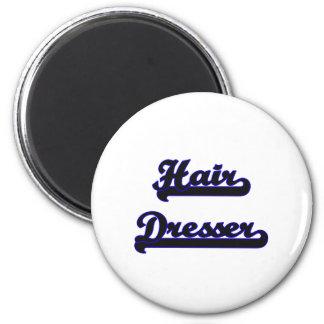 Hair Dresser Classic Job Design 2 Inch Round Magnet