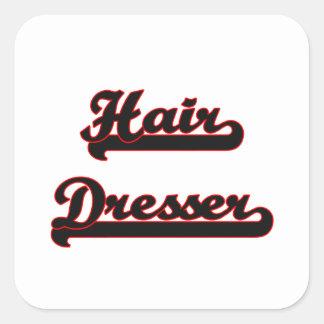 Hair Dresser Classic Job Design Square Sticker