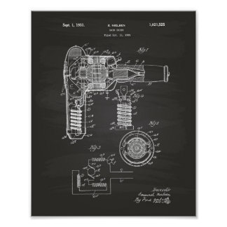 Hair Drier 1929 Patent Art Chalkboard Poster