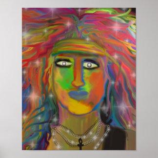 """""""Hair God"""" Digital Art Print"""