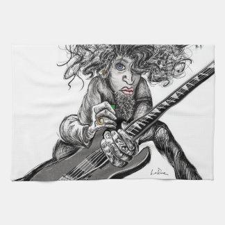 Hair Guitar Hand Towels