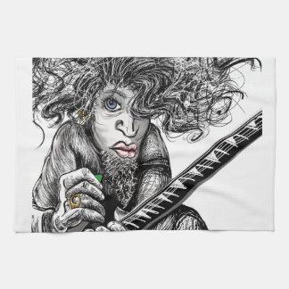 Hair Guitar Towels
