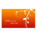 Hair / Nail Salon Floral Swirls business card
