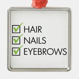 Hair Nails Eyebrows Metal Ornament