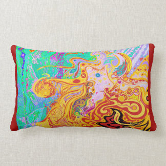 Hair of the Divine Universe Art Lumbar Cushion