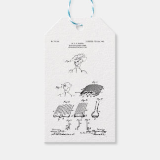 Hair retaining comb - Mary Carpenter, Inventor Gift Tags