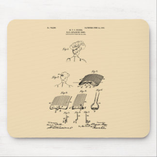 Hair retaining comb - Mary Carpenter, Inventor Mouse Pad