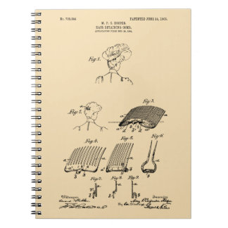 Hair retaining comb - Mary Carpenter, Inventor Notebooks