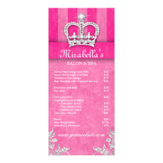 Hair Salon Beauty Rack Card Jewelry Swirl Pink