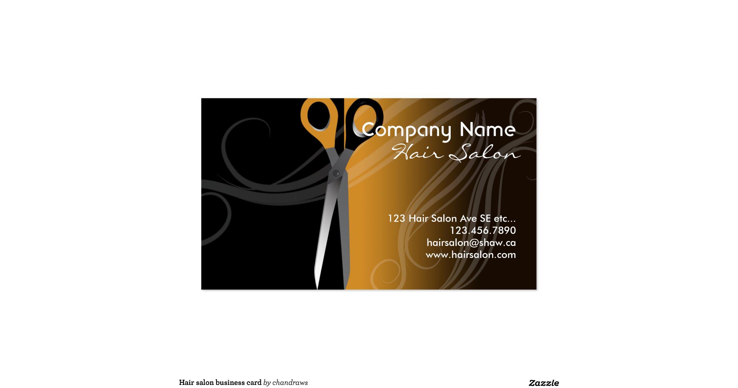 hair salon business card business card templates zazzle