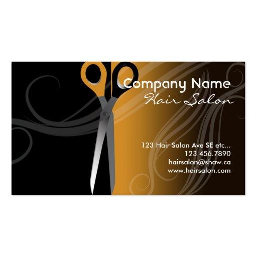 Hair salon business card business card templates zazzle for Hair salon business card template