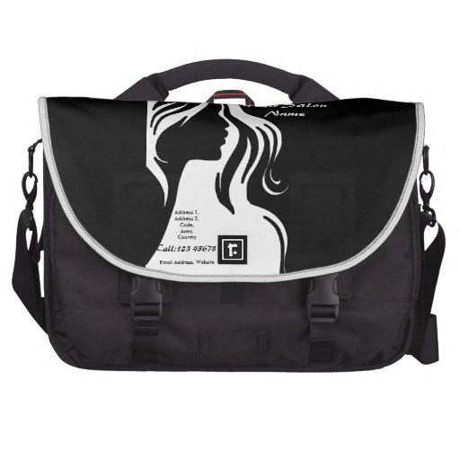 Hair Salon Business Theme Collection Laptop Messenger Bag