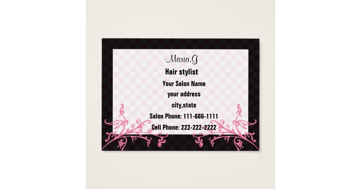 Hair salon businesscards business card zazzle for 3 fifty eight salon