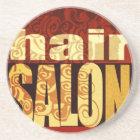 Hair Salon   Earth Tones Coaster