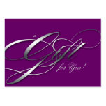 Hair Salon Gift Certificate Purple Silver Business Cards