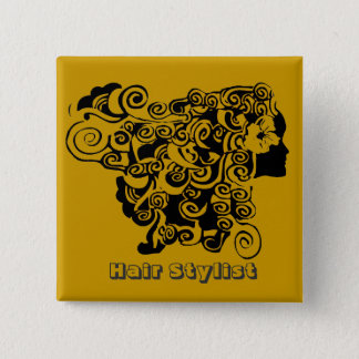 Hair Salon Promotional  Hair Stylist 2 Inch Square Button