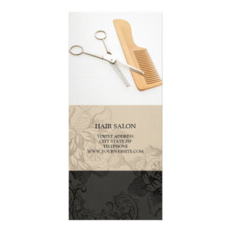 Hair Salon Services Price List {Beige} Rack Card