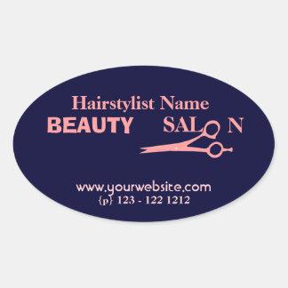 Hair Salon & Spa  Stylist Oval Sticker