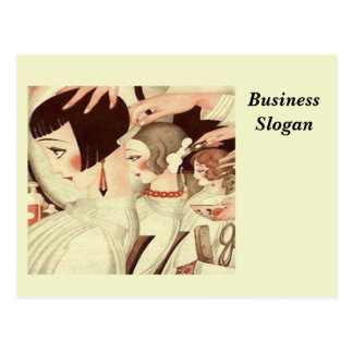 Hair Salon Stylist Postcard
