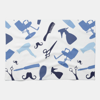 Hair salon tools pattern kitchen towel