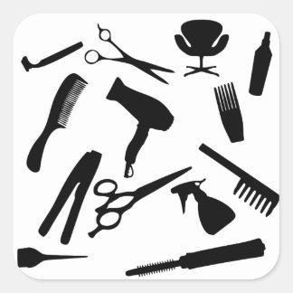 Hair Salon Tools | Square Sticker