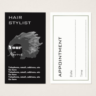 Hair Stylist Appointment Business Cards