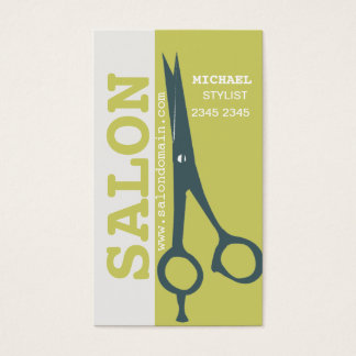 Hair Stylist Appointment Re-Booking Salon Scissors Business Card