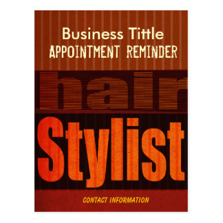 Hair Stylist Appointment Reminder Typography Postcard