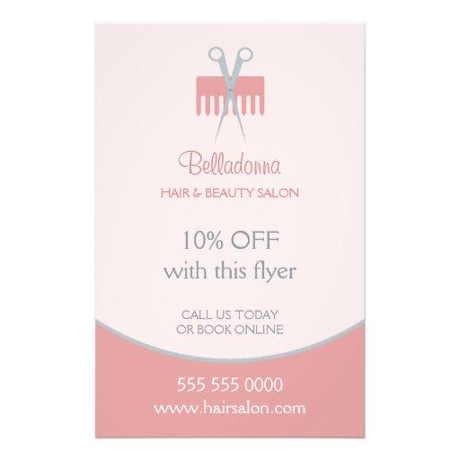 Hair stylist beauty salon flyer