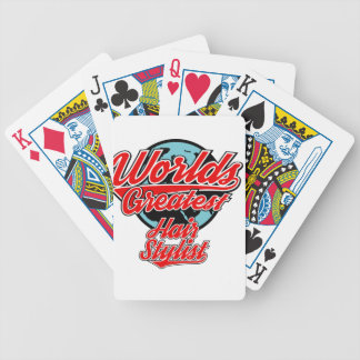hair stylist bicycle playing cards