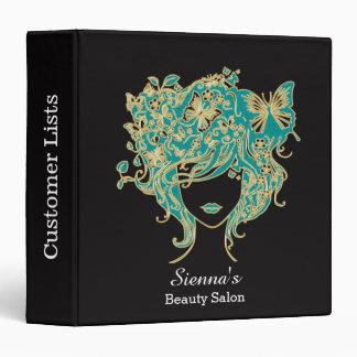 Hair stylist vinyl binder