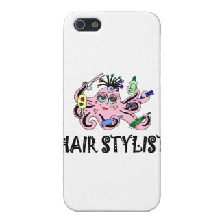 Hair Stylist Black and Pink Octopus iPhone 5 Covers