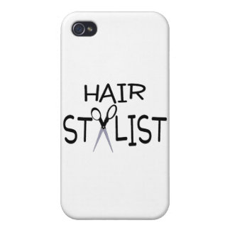 Hair Stylist Black With Scissors Case For iPhone 4