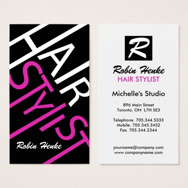 Hair Stylist Business Cards Zazzle