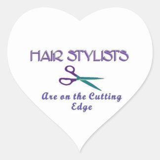 Hair Stylist Cutting Edge Heart Sticker