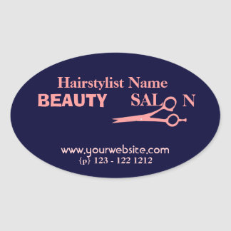 Hair Stylist  Fashion Beauty Salon & Spa Oval Sticker