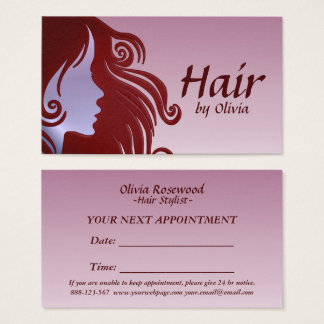 Hair Stylist Hair Dresser Hair Salon Business Card