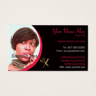 Hair Stylist - Hair Dresser - Photo - Appointment Business Card
