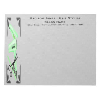 Hair Stylist Hair Dryer Curling Iron Scissors Notepad