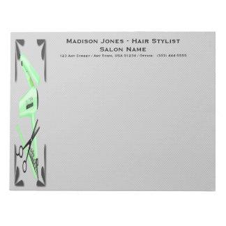 Hair Stylist Hair Dryer Curling Iron Scissors Notepads