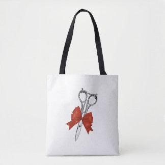 Hair Stylist Hairdresser Scissor & Bow Salon Tote Bag
