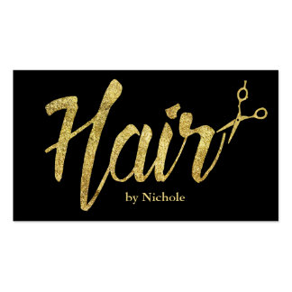 Hair Stylist Modern Gold Script Appointment Pack Of Standard Business Cards