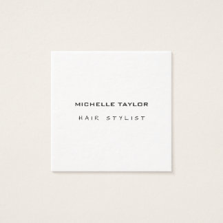 Hair Stylist Modern Minimalist Trendy Luxury Thick Square Business Card