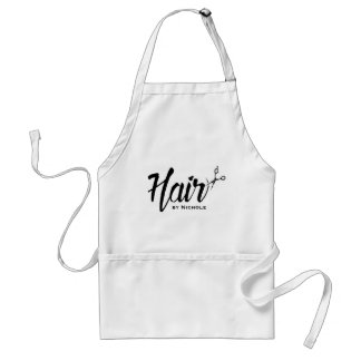Hair Stylist Modern Script Beauty Salon Standard Apron